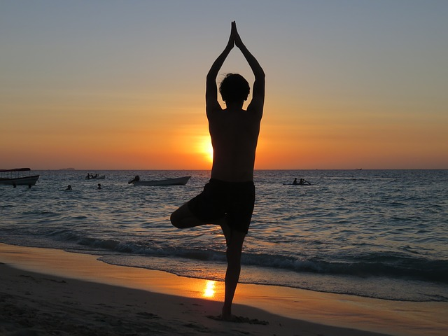 postura yoga postura copacului