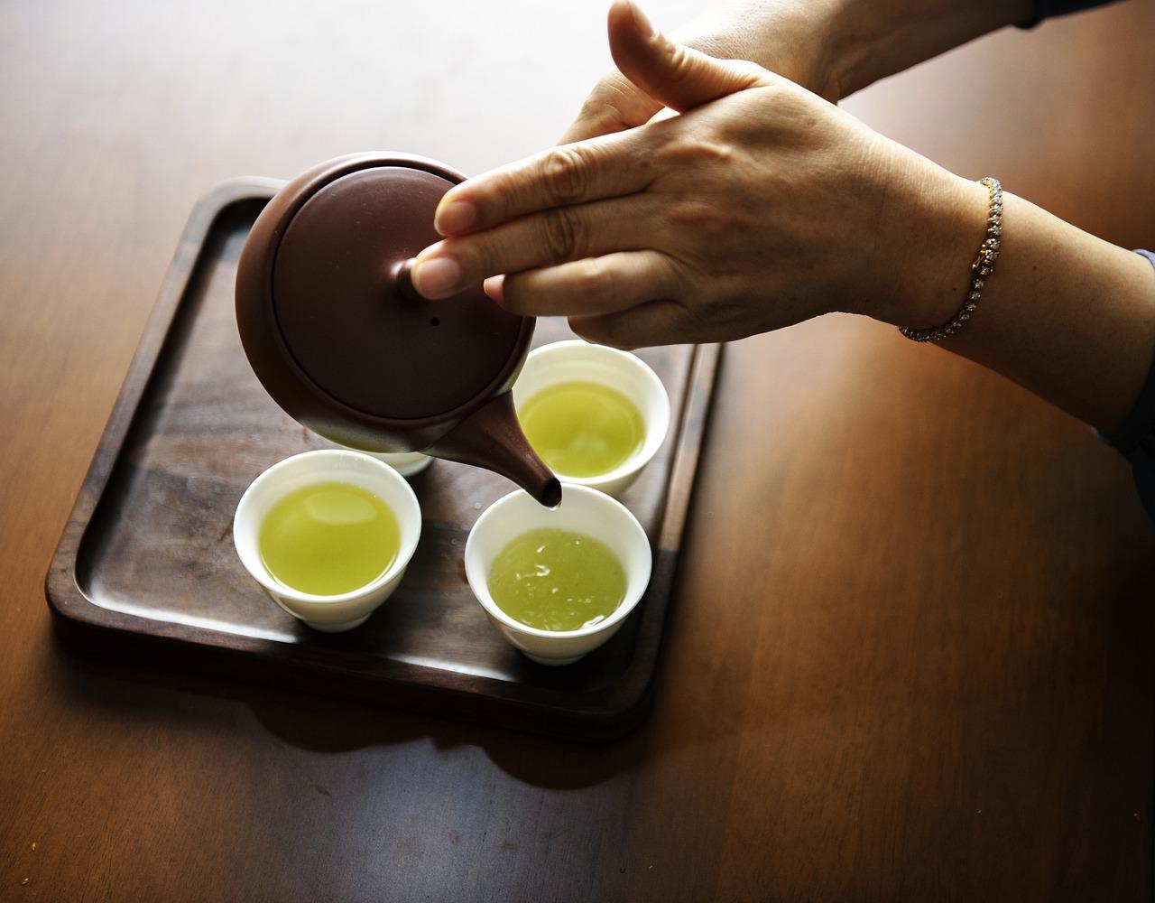 slabire cu ceai verde