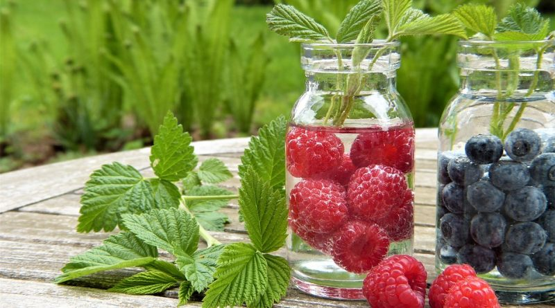 apa infuzata cu fructe